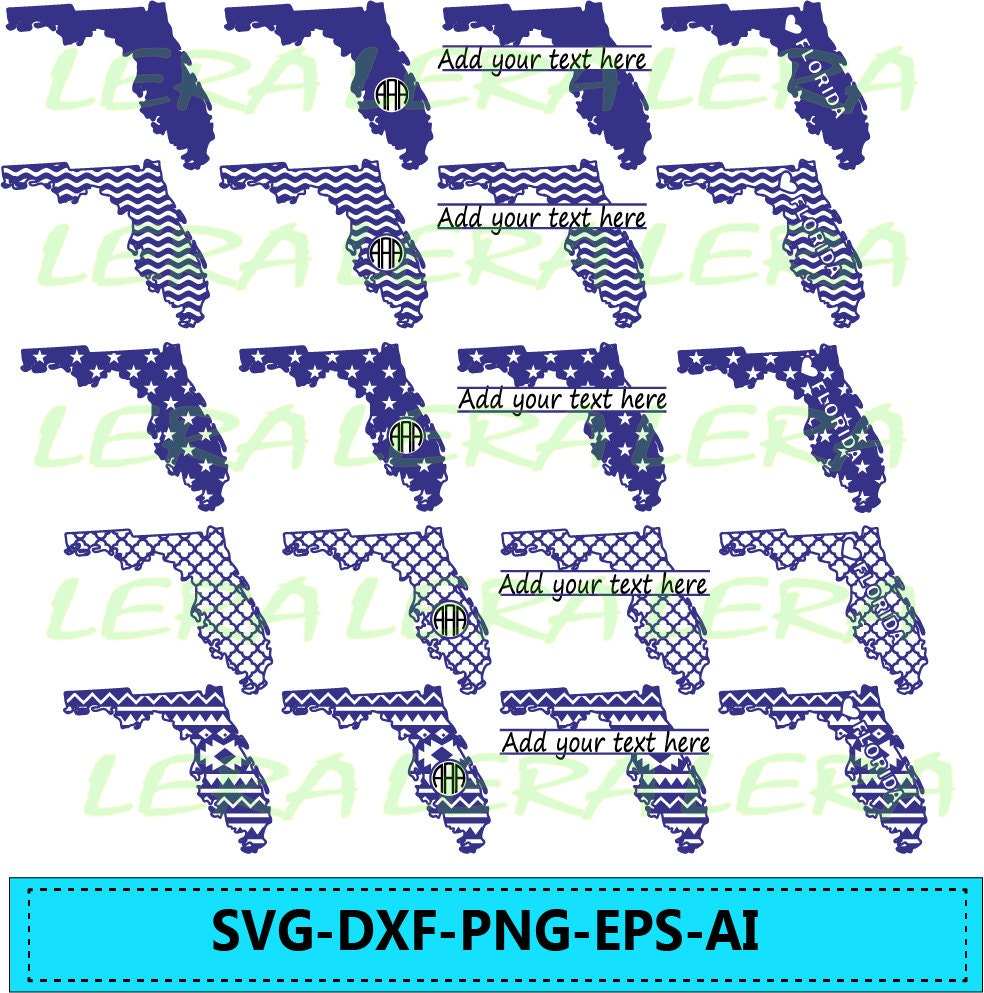 60% OFF, Florida State SVG, Florida Monogram Frames, Florida Cricut ...
