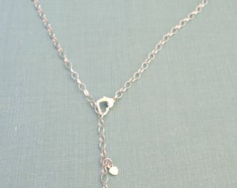Custom Dog Necklace, Lariat TaGette Sterling Silver, Personalize Pendant, Silhouette Charm, Dog Memorial jewelry Rescue