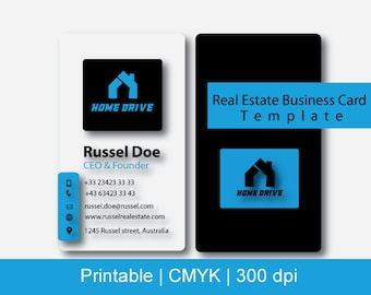 Printable real estate  business cards template,  Real estate business cards,  realtor marketing, real estate marketing, real estate signs