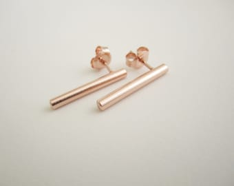 rod earrings fold e pinch gold threaded silver w products