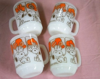 Vintage Fire King SNOOPY Mugs Dreaming of Sweets....Only 1 Left