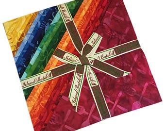 "SALE Fabric Island Batik Rise & Shine Batiks Precut 10"" Fabric Squares Quilting Cotton Island Stacks"