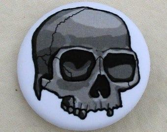 Button - Monochromatic Skull