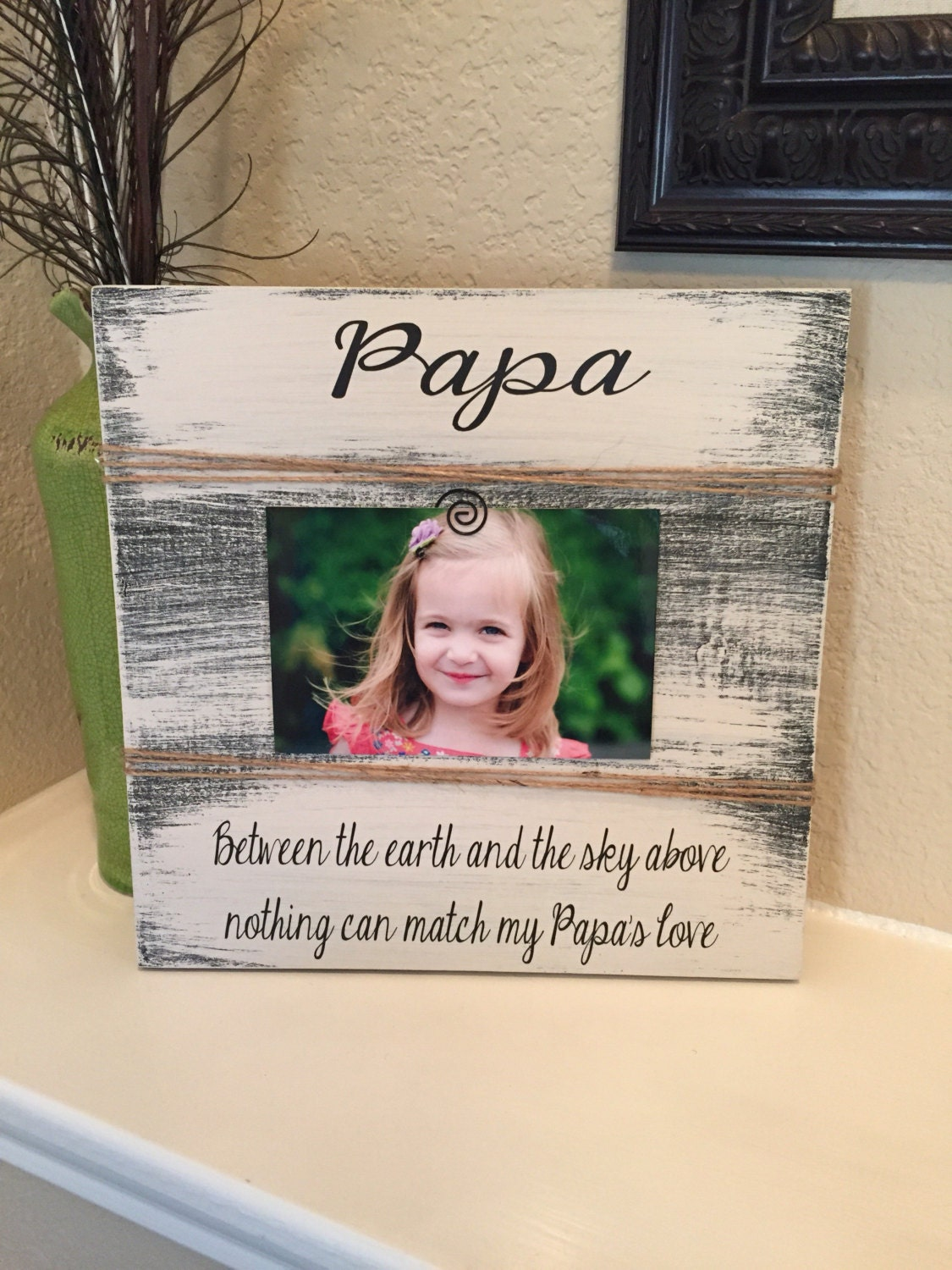 Papa frame gift grandpa uncle gift frame gift for brother i love my ...