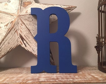 Hand-painted Wooden Letter R -  Wall Letters - Circus Font - Various sizes, finishes and colours