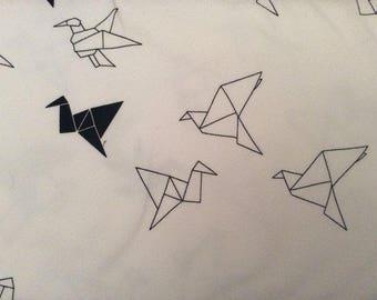 Origami birds Jersey pre cut to 1 meter