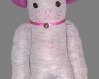 Sock cat plush