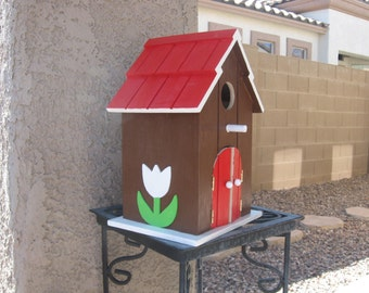 BARN/FARM BIRDHOUSE-Whimsical Gift-Patio & Yard Decoration