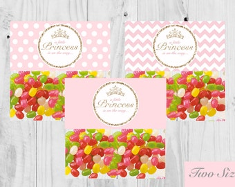 Princess Baby Shower,  Treat Bag Topper, Labels, Pink,  Baby Shower Printable - Instant Download - It's a Girl, Princess, Baby Shower.