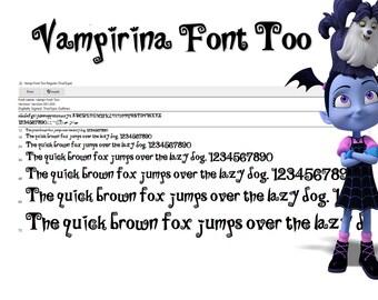New Vampirina Font . New version True Type. To install and write. Vampi font ttf & otf
