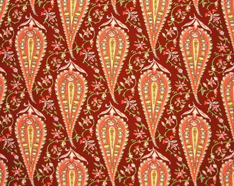 Amy Butler Love Collection Cypress Paisley  in Wine  Fat Quarter