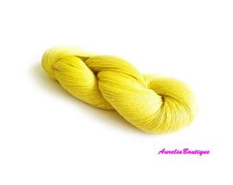 Linen yarn, linen thread,  1ply yarn, sulfur thin yarn, laceweight yarn