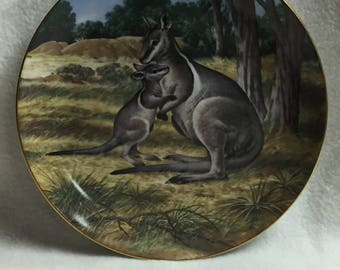 W.L. George Last of Their Kind: The Endangered Species Collector Plate - 'The Bridled Wallaby' (#146)