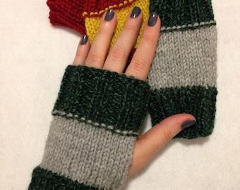 Harry Potter Hogwarts House Fingerless Gloves