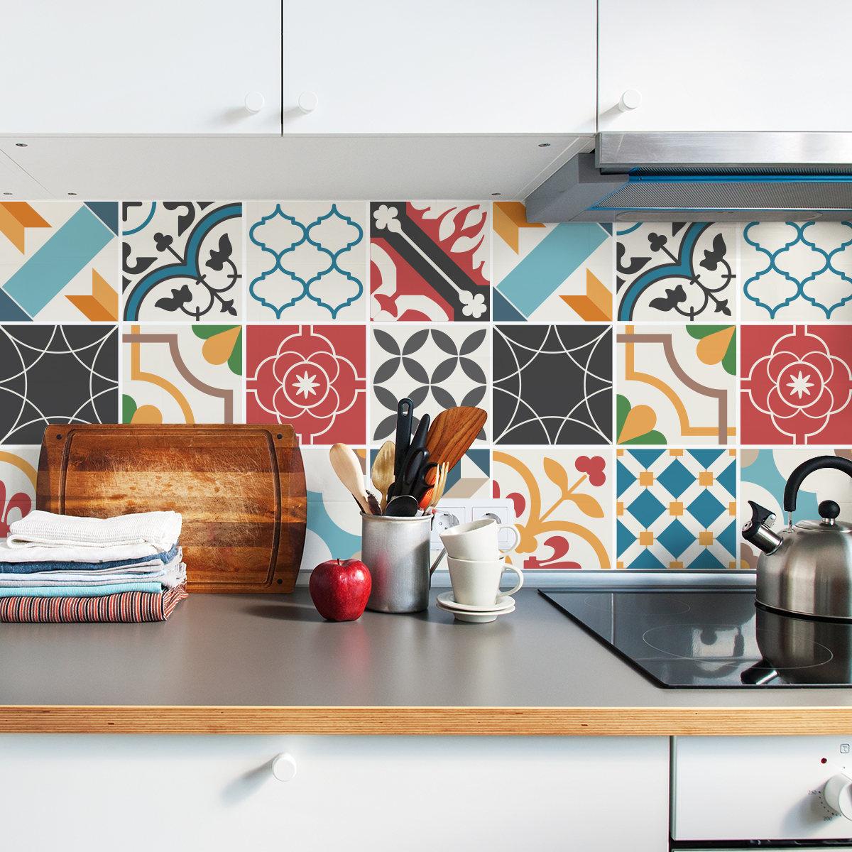 Spanish mediterranean tile decals tile stickers set zoom dailygadgetfo Gallery
