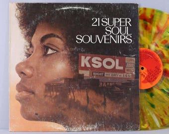 21 Super Soul Souvenirs Vol. 2 - Various Artists - Vintage Vinyl Record Album 1969 Colored Vinyl KSOL Compilation