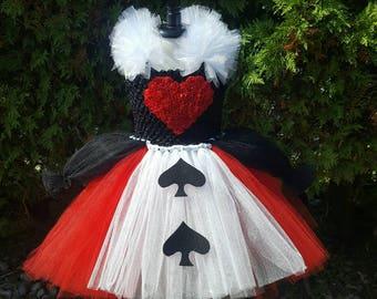 Queen of Hearts Costume, Halloween Costume, Villian Costume, Alice in Wonderland Costume, Queen of Hearts Tutu