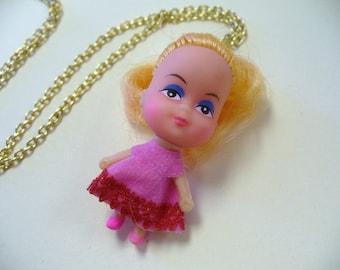 Vintage Tiny Doll Kiddles Necklace DEADSTOCK Samantha