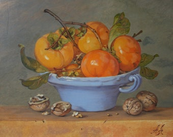 Fruits and nuts,original oil painting,30x40cm,oil on canvas