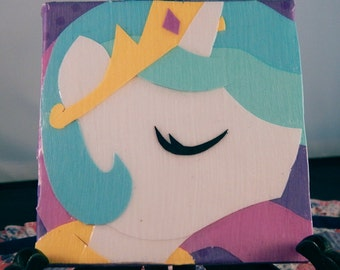 "Princess Celestia 4"" Papercraft Canvas"