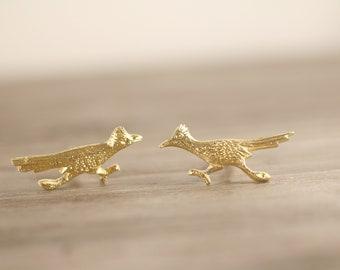 Vintage Gold Road Runner Cufflinks, J. Ritter Cufflinks, Men's gift, Nature Lover Gift Bird Gift