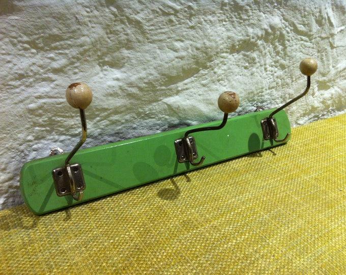 Antique Wardrobe green 3 holder beautiful wall decoration shabby chic