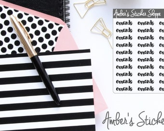 Cursive Lettering Errands Headers Labels Planner Stickers