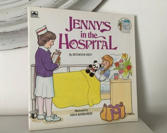 1984 Jenny's In The Hospital by Seymour Reit Little Golden Book Paperback