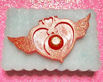 Cabochon\Stampo Silicone Flexible Heart brooch Sailor Moon Glossy