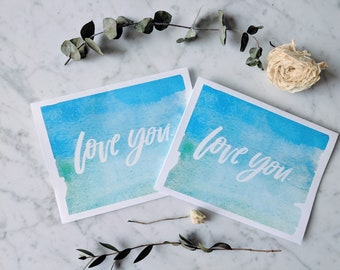 Love you card [Printable download]