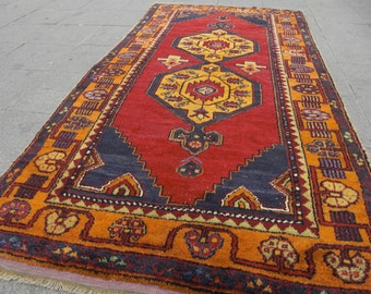 oushak rugs - carpet oushak turkish carpet vintage turkish rug, Turkish Nomadic Rug, 369