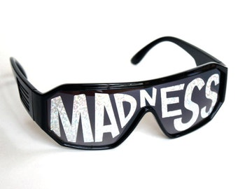 Rasslor Black MADNESS Shield Sunglasses