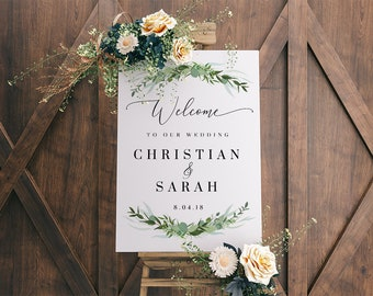 Wedding welcome sign etsy wedding welcome sign printable eucalyptus boho wedding signs wedding decor rustic wedding sign instant download welcome wedding sign junglespirit Image collections