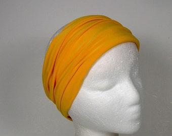 SALE Yellow Head Wrap Lycra Head Wrap Yoga Head Wrap Yoga Headband Boho Head Wrap Yellow Boho Head Wrap Sunflower Yellow Head Wrap Headbands
