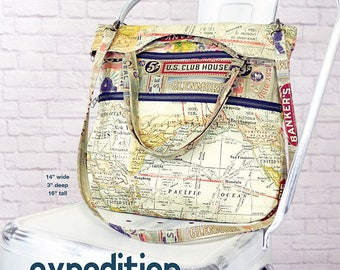 Swoon Paper Pattern:  Expedition Tote - Travel Bag Purse Sewing Pattern