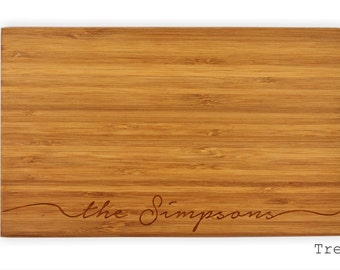 Personalized cutting board, custom chopping board, cheese and wine wooden board by TreeX