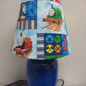 Rustic Mason Jar Thomas The Tank Engine And Friends Lamp Lamp Shade  Children Light Nursery Light