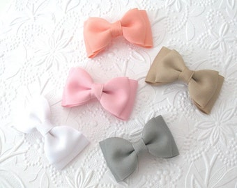 Back to School Bows, Choose Colors, Toddler Hair Clips, Hair Bow Clips, Set of Hair Clips for Toddlers, Girls Hair Bows, Hair Bows for Girls