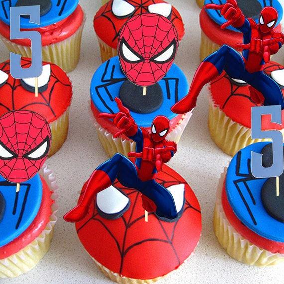 Spiderman Cupcake Topper Spiderman Cake Spiderman Birthday