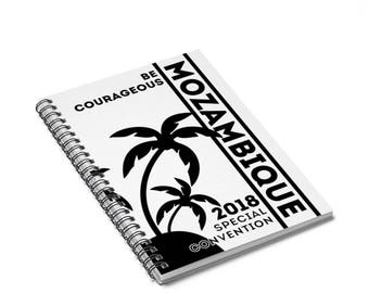 Special Convention Be Courageous Mozambique Spiral Notebook JW