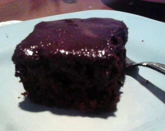 Make Your Own Vegan Intense Dark Chocolate Cake and Frosting - One Pan Recipe - PDF INSTANT DOWNLOAD