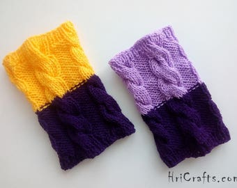 Knitted Reversible boot cuffs cable boot toppers Hand knit 2 in 1 boot cuffs Two colors leg warmer Boot socks Cable knit Fashion accessory