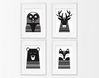 affiche noir et blanc etsy. Black Bedroom Furniture Sets. Home Design Ideas