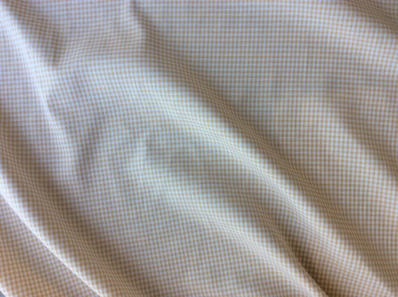 Cotton poplin, beige Vichy or check weave