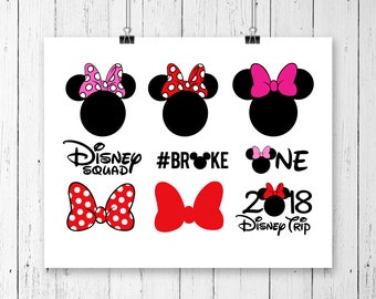 INSTANT DOWNLOAD! Minnie Mouse SVG, Minnie mouse, Minnie Mouse Head, Vector Minnie Mouse, Cut File, Minnie Mouse
