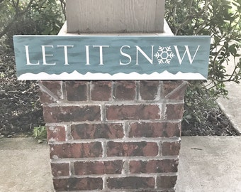 Let It Snow Wood Sign / Christmas Wood Sign / Winter Decor / Christmas Decor / Christmas Gift / Christmas Decoration