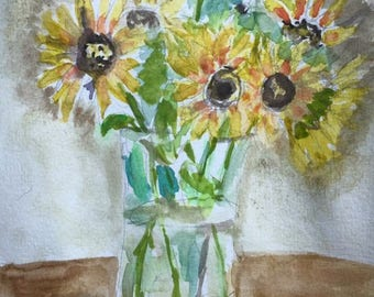 Sunflowers Matted Print