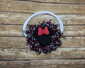 Minnie Mouse headband-newborn photography - headband - hair bow - infant