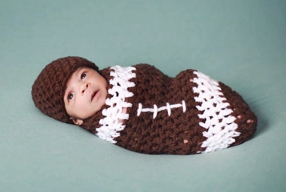 Baby Nfl Football Cocoon Hat Set