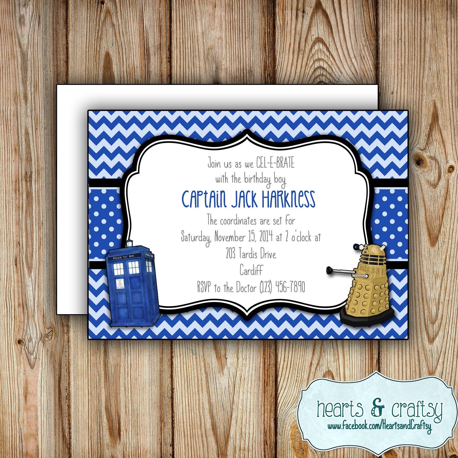 Personalized Printable Doctor Who Party Invitation Doctor